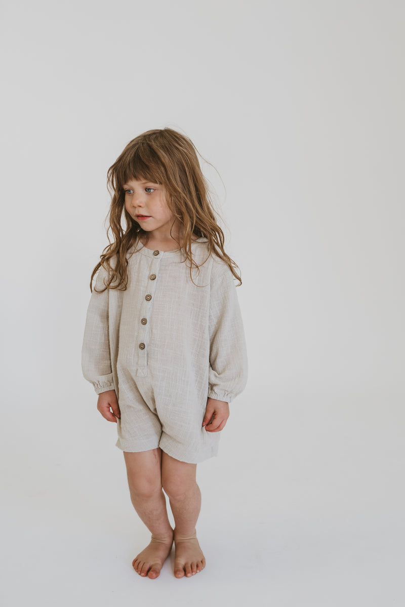Husk romper | Natural