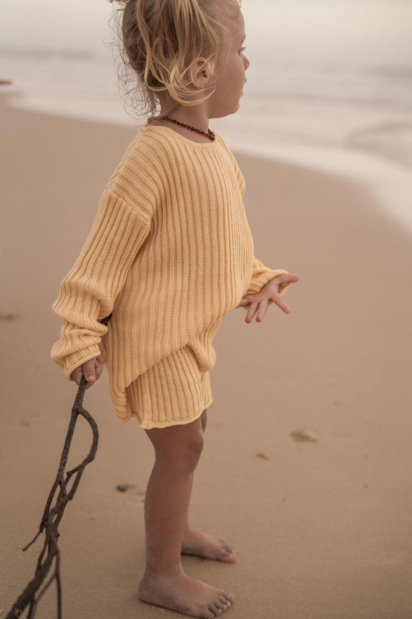 Essential knit jumper | Sunshine