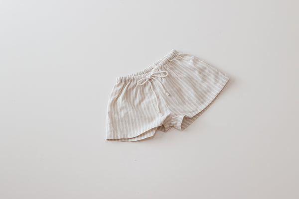 Thea Shorts - Oat Stripe