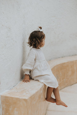 Botanically dyed children's dress