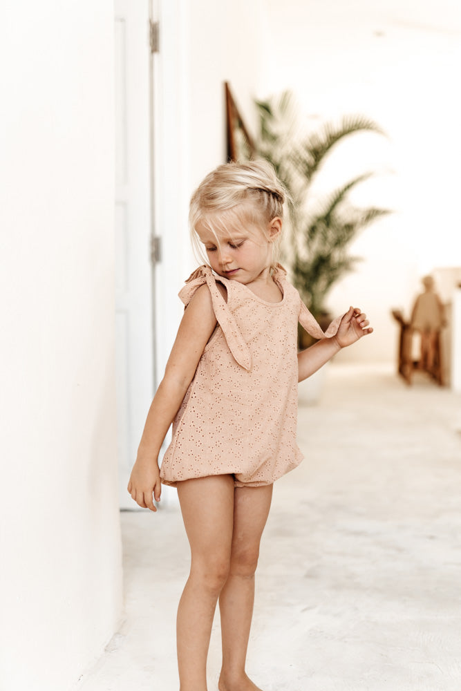 Mars Romper - Clay Broderie Anglaise