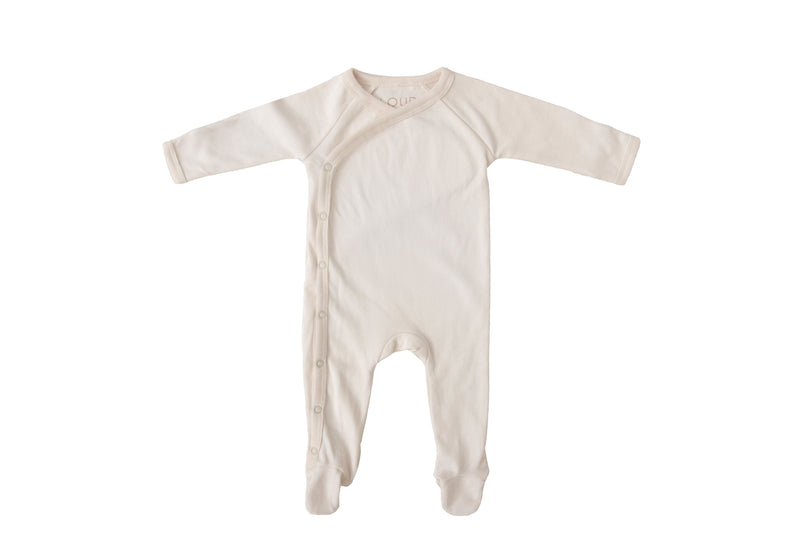 Footed romper | Natural
