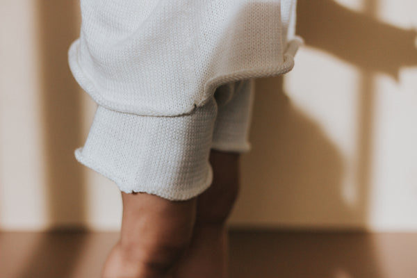 Essential knit shorts | Vanilla