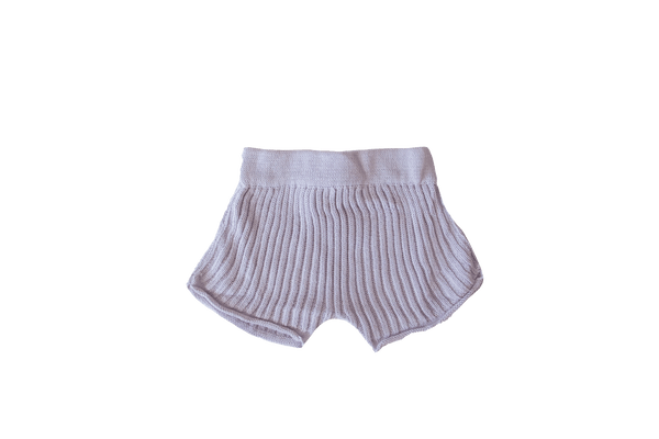 Essential knit shorts | Lilac
