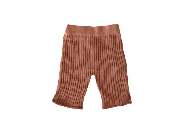 Essential knit pant | Rust