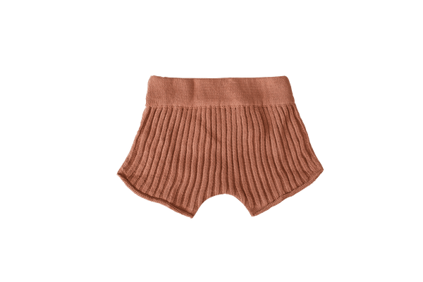 Essential knit shorts | Rust