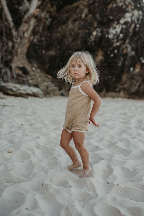 Willa romper towelling | Golden