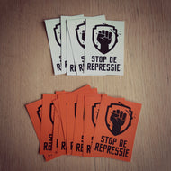 Set Stickers Oranje/Zwart