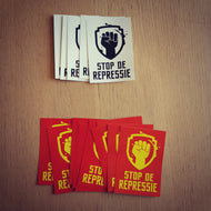 Set Stickers Rood/Geel