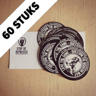 Set Stickers Love the Game - Question the Modern Way - 60 Stuks