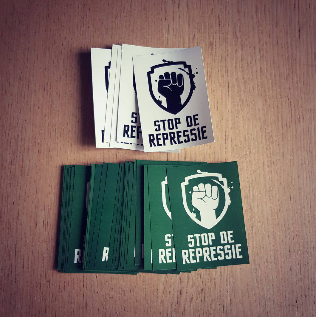 Set Stickers Groen/Wit