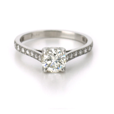 1.36ct Brilliant Cut Diamond Solitaire Engagement Ring Platinum