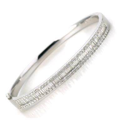 18ct white gold 3ct diamond bangle