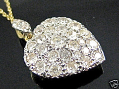 Old Cut Diamond Heart 2ct Yellow Gold