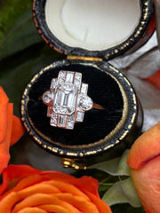 Art Deco Diamond Platinum Ring 1.61ct