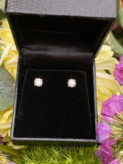 0.82ct Diamond Stud Earrings 4 Claw 18ct White Gold