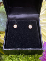 0.40ct Classic Diamond Rubover Stud Earrings 18ct Yellow Gold