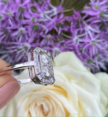 Art Deco Diamond Ring 1.0ct Platinum