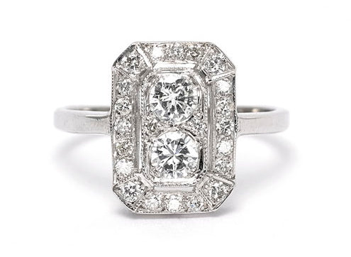 Art Deco Diamond Ring 0.90ct 18CT WG