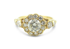 Victorian Style Diamond Ring 1.20ct 18CT Yellow Gold