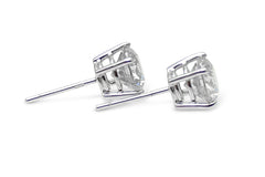 1.50ct Diamond Stud Earrings 4 Claw 18ct White Gold
