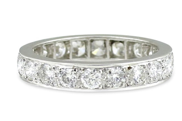 Diamond Full Eternity Ring 2ct Ring 18CT White Gold