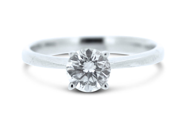 Brilliant Cut Diamond Solitaire Ring Platinum 1.01ct