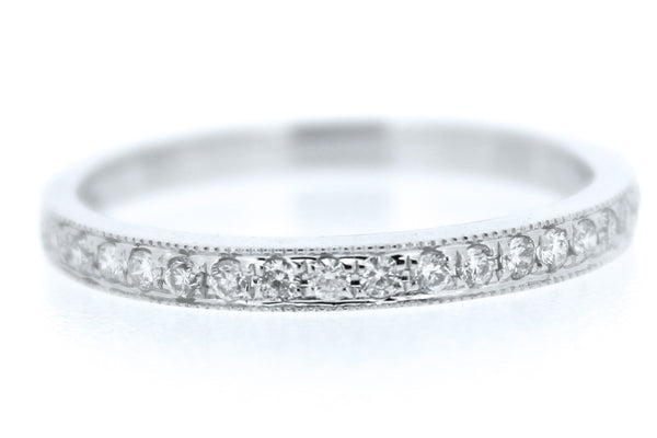 Brilliant Cut Diamond Half Eternity Ring 18ct White Gold 0.20ct