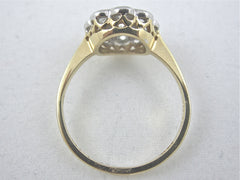 Victorian Style Diamond Cluster Ring 1.10ct 18CT YG