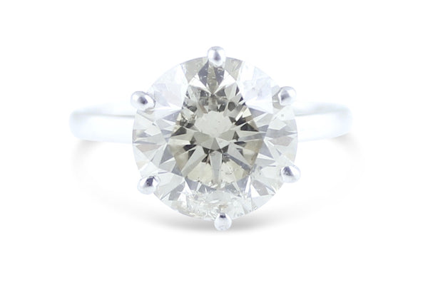 Diamond Solitaire Ring 2.07ct Platinum