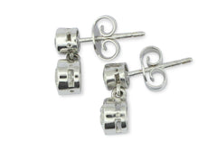 Brilliant Cut Diamond Drop Stud Earrings 18ct white gold 1.20ct