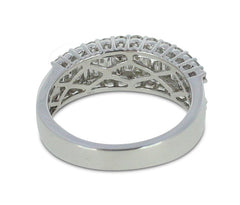 18ct White Gold Half Hoop Diamond Eternity Ring 1.32ct Contemporary Style