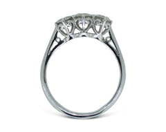 Three Stone Brilliant Cut Diamond Ring 1.68ct 18ct White Gold