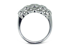 Art Deco Diamond Five Stone Ring 1.60ct Platinum