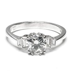 Diamond Solitaire Ring 1.27ct Platinum