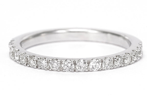 18ct Brilliant Cut Diamond Half Eternity Wedding Ring 0.25ct White Gold