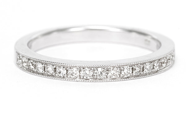 18ct Round Brilliant Cut Diamond Half Eternity Wedding Ring 0.25ct White Gold