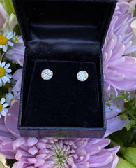1.01ct Classic Diamond Rubover Stud Earrings 18ct White Gold