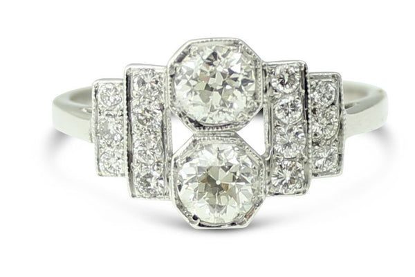 Art Deco Diamond Ring 0.90ct Platinum