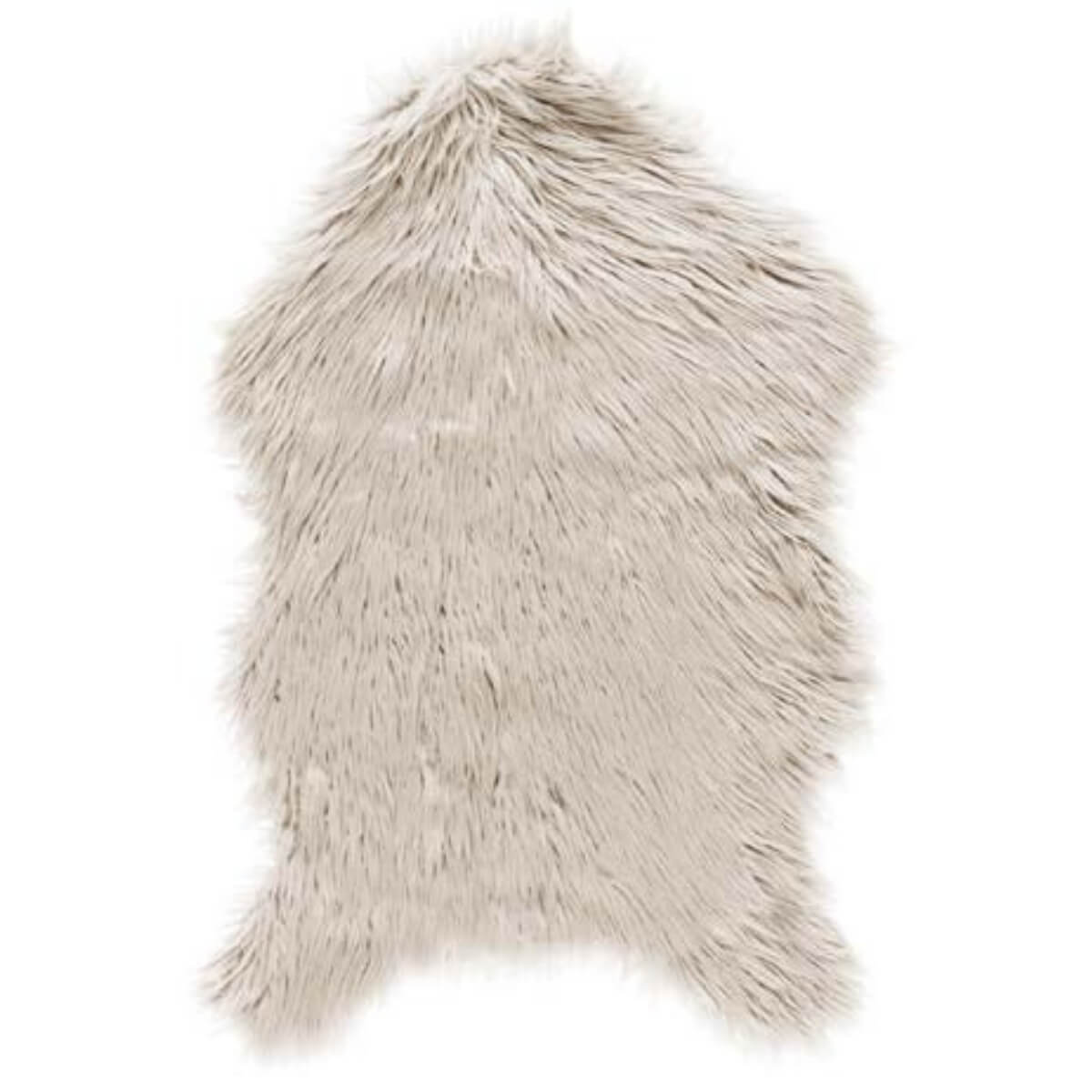Cream faux sheepskin