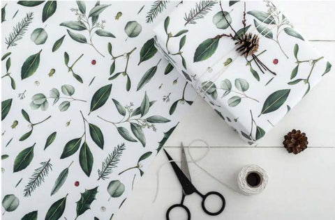 Greenery wrapping paper