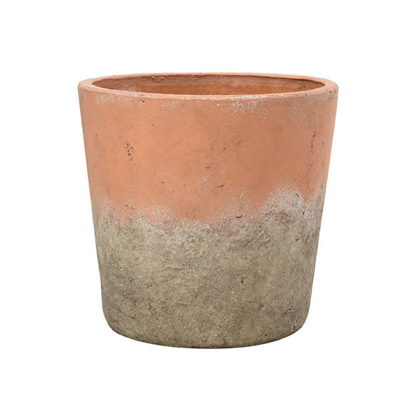 Cutout image of the large aged terracotta pot