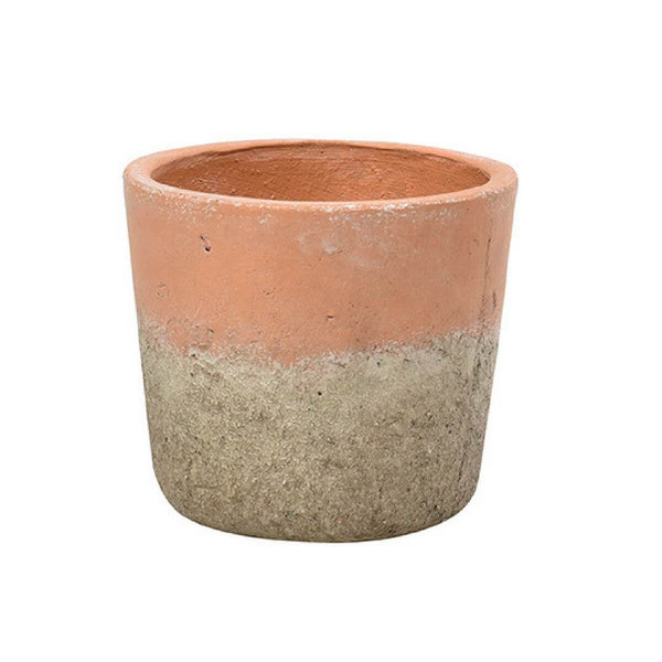 Cutout image of the medium aged terracotta pot