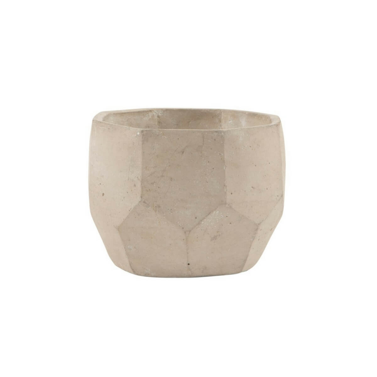 Cutout image of the mini geometric cement planter