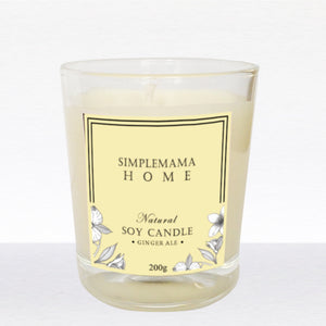 SimpleMamaHome - Natural Soy Candle 200g - Ginger Ale