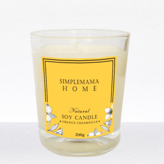 SimpleMamaHome - Natural Soy Candle 200g - Orange Creamsicle