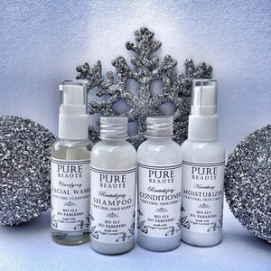 1 set Pure Beauté TRAVEL SIZE Skin care products (4 items)