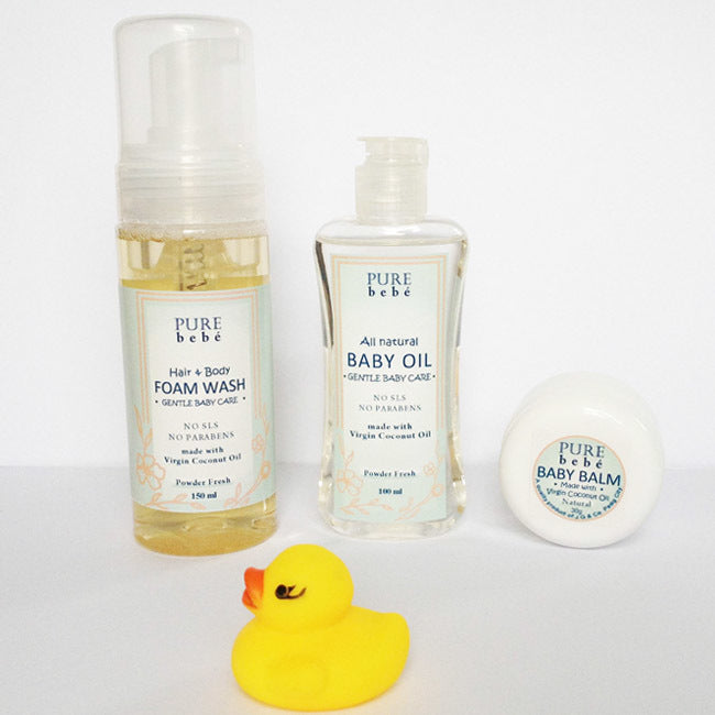 Pure Bebe Natural Baby Care (set of 3)