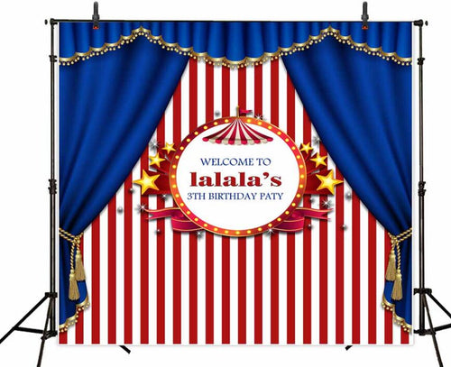 Curtain and star birthday party customized photography backdrop for children