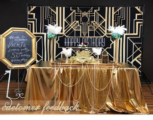 Gatsby birthday party decor banner background backdrops for photo studio
